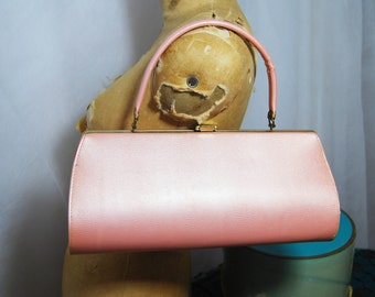 Gorgeous Bubblegum Pink 50s / 60s VEGAN Handbag ROCKABILLY Viva Las Vegas!