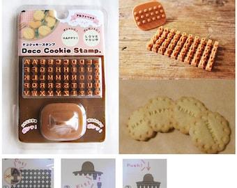 SALE - economic Cookie alphabet stamp 4 mm