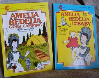 Amelia Bedelia and the Baby and Amelia Bedelia Goes Camping Avon Camelot books
