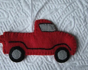 Red Pick-up Truck Ornament