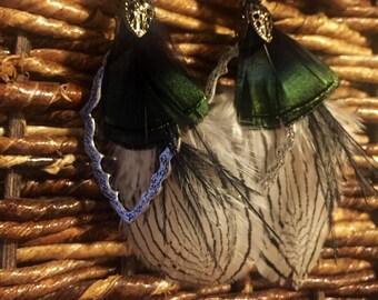 Classy feather earrings