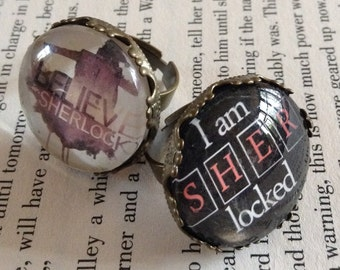 Sherlock Holmes Adjustable Ring