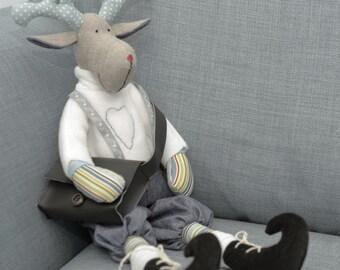 Big Reindeer/ Rudolf toy/decoration handmade