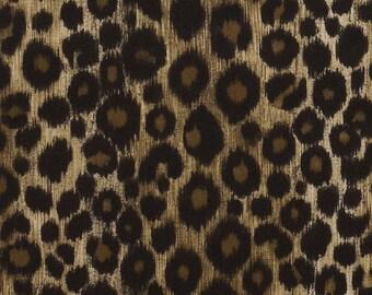 Velvet Animal Upholstery Fabric for Furniture - Heavyweight Fabric - Custom Brown Leopard Pillow Cover - Black Velvet Animal Pillows