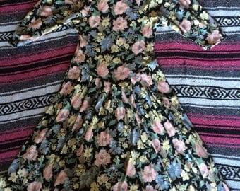 Vintage Floral Print Summer Dress