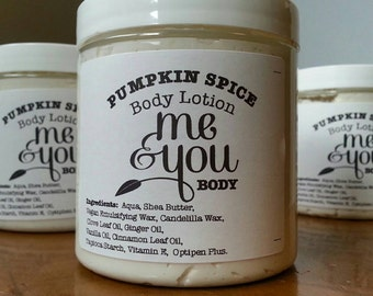 Pumpkin Spice Body Lotion - Vegan and Cruelty-Free