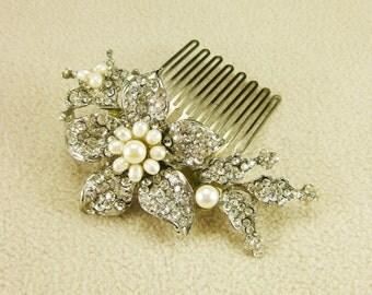 Floral Bridal Hair Comb