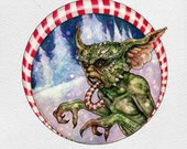 Holiday Greeting Card - Naughty Gremlin