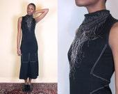 Issey Miyake Long Dress Maxi Dress Long Black Dress Black Maxi Dress Tank Dress Sleeveless Dress Summer Dress Lagenlook Clothing Avant Garde
