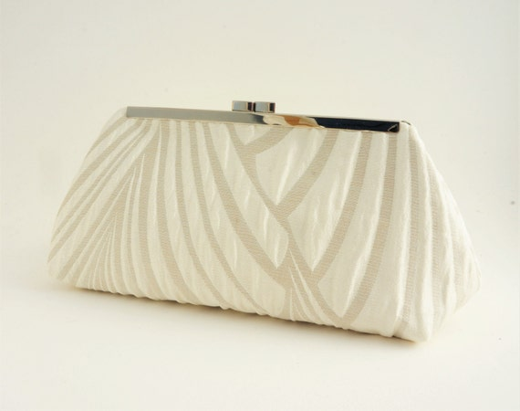 Ivory Art Deco Gatsby Bridal Wedding Clutch Handbag - 1920's Style Bridesmaid/Evening/Formal Handbag - Crossbody Option - Made to Order