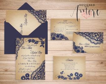 PRINTABLE WEDDING INVITATIONS Lace - Bellevue Suite