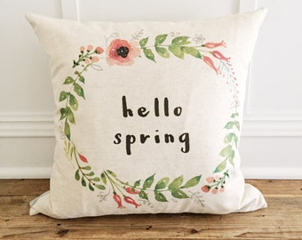 Hello Spring Pillow Cover
