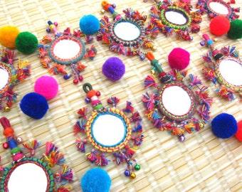 BOHO Tassel Mirror Decor, Tassel Decor Supply,  Keychain Decorating Supply Mirror Decor Tassel Decor Gypsy Accessories Bohemian Fashion