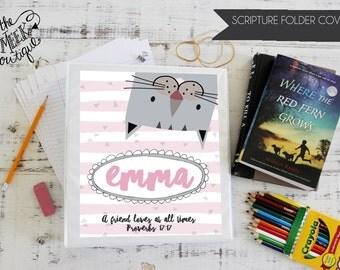 Personalized Scripture Folder Covers, Cat, No. 26