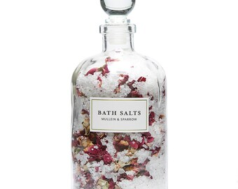 Rose Bath Salts, Organic, vegan, apothecary