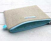 """SALE!!  On Sale for HALF PRICE!  Linen Clutch Bag -  6""""x8"""" 