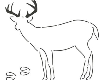 NOTION:  DEER STENCIL - Layer Cake Friendly - Animal Template - Applique Template - Wildlife - Nature