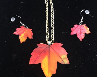 Fall Necklace and Earings