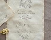 Old Spencerian Invite on Handmade paper