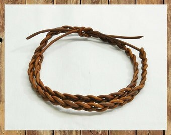 BRANKLETS! Brown braided leather for your wrist OR your ankle!