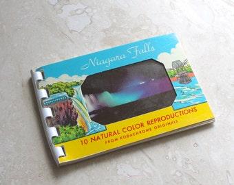 Niagara Falls souvenir photos, 10 miniature photos circa 1960s, Niagara Falls photos, travel photos, postcard souvenir, old photographs