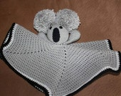 Koala Lovey Blanket - Mini Blanket Lovey - Koala Bear Toy Lovey - Crochet Lovey Blanket - Security Blanket - Baby Blanket - Baby Shower Gift