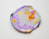 Menstrual Cup Coaster - Cup Rug - Cup Spot - Bee Hex in Lilac