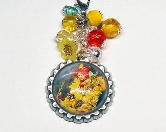 Beaded Purse Charm, Key Chain Charm, Snapdragon Fairy Purse Charm, Gift for New Mom, Diaper Bag Charm, Backpack Zipper Pull, PC324