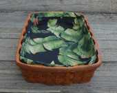 wood bread serving tray basket Cherry wood