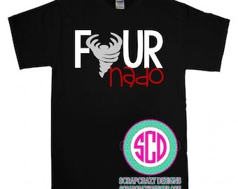Four Nado, youth clothing, toddler clothing, birthday shirt, four years old shirt, four shirt, birthday girl, birthday boy, 4th birthday