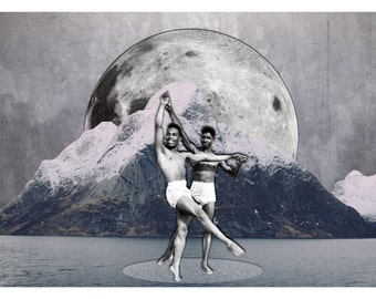 Dancers- Surreal Digital Collage / Instant Download