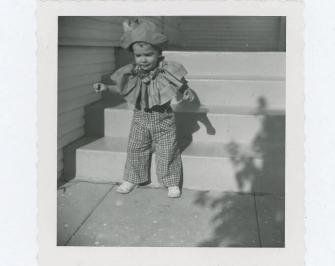 Vintage Snapshot Photo: Halloween, 1957 (610512)