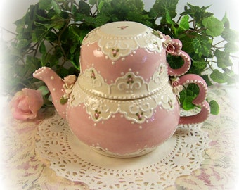 Lace Heart Tea-for-One