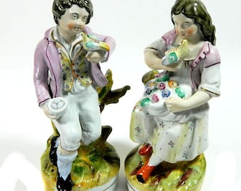 A Pair of Early 19th Century Staffordshire Pearlware Figurines