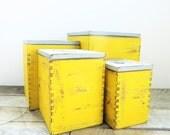 Storage Boxes - Mustard Yellow Grey - Modern Farmhouse Kitchen