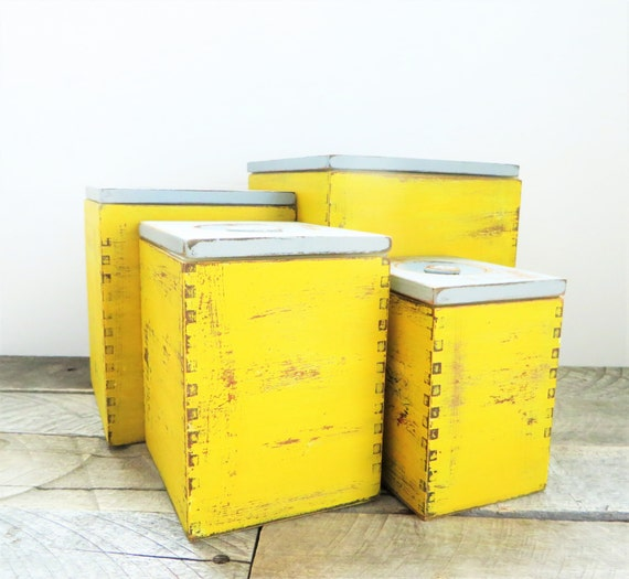 storage boxes mustard yellow grey modern farmhouse kitchen. Black Bedroom Furniture Sets. Home Design Ideas