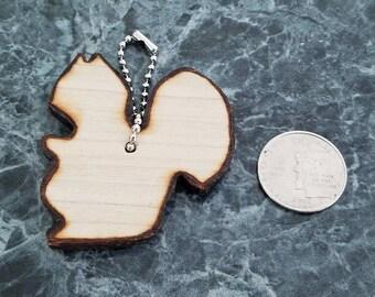 Wooden Squirrel Key Chain