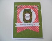 Pregnancy Card - Pickle Jar Card - Happy Pregnancy - BLANK Inside