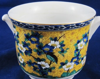 Kutani Takahashi, San Francisco, Planter Vase Chinoiserie, Japanese Hand Painted