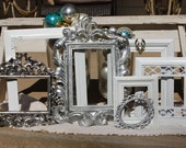 Shabby Chic PICTURE FRAMES / Picture Frame Set / Ornate /  Shabby Chic Decor