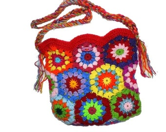 upcicled RETRO Multicolour Crochet Bag HIPPIE