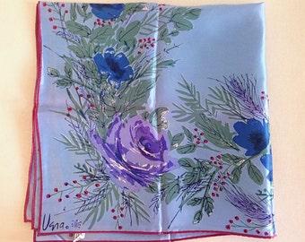 Vintage Vera Neumann Painterly Purple and Blue Spring Flowers