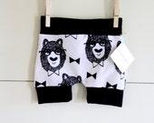 Handmade Hipster Baby Shorts | Baby Shorts | Baby Harems | Harem Shorts | Baby Girl Shorts | Baby Boy Shorts |Unisex| Wise Bear Print