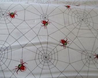 Eric Carle The Very Series Cotton Fabric with spiders and webs 1 yard