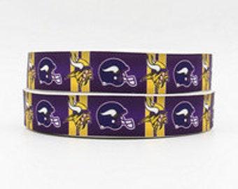 "7/8"" Minnesota Vikings Ribbon - 3 yards"