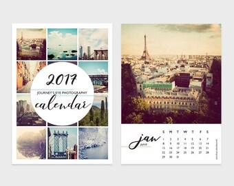 2017 desk calendar, photo calendar, 5x7 calendar, 4x6 calendar, mini calendar, Journeys Eye, travel calendar, office decor