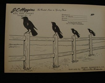 Vintage Crows on the Fence Target no. 12 by Sears