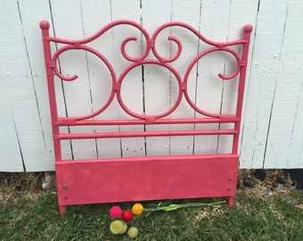 RATTAN PINK HEADBOARD Twin, Bamboo Headboard, Hot Pink Headboard, Rattan Headboard, Nursery, Boho, Coastal Decor, Dorm, at Ageless Alchemy