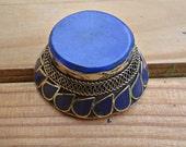 Lapis ring- Statement lapis ring- lapis lazuli jewelry- Afghan lapis ring- Novelty ring- Stone ring- Ethnic rings- Tribal rings- Afghan ring