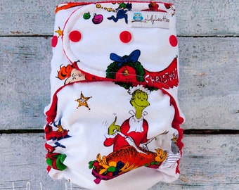 """AI2 Cloth Diaper- """"Grinch"""""""